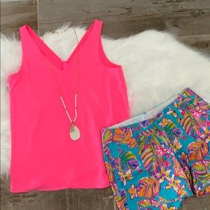 Lily pulitzer cosmic coral reversible florin top